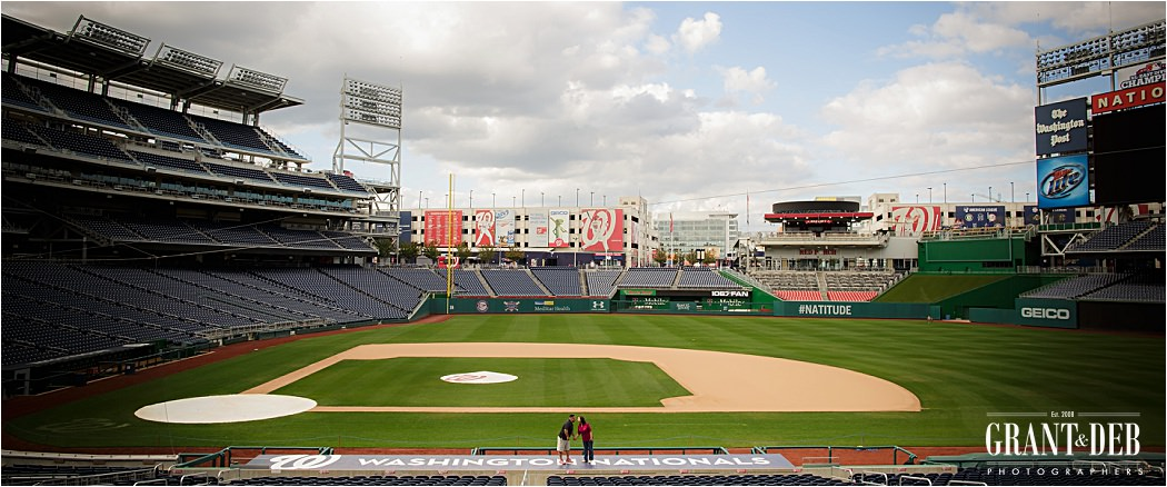 washington nationals baseball park engagement photographers - washington nationals baseball park engagement photographers