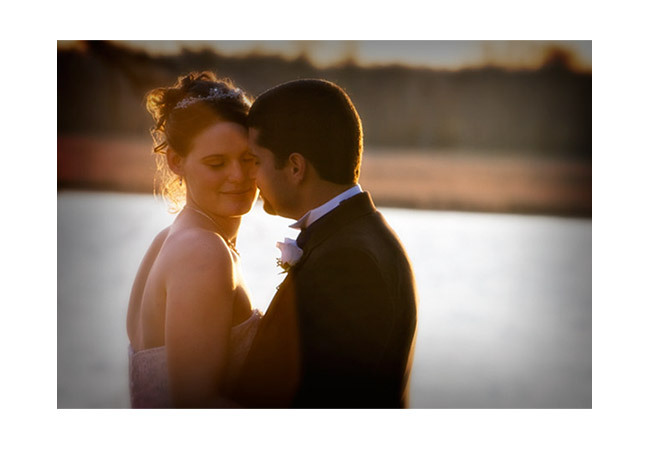 Virginia Beach Wedding Photographers - Ncouplesunsetframe