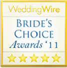 Winner of WeddingWire Bride's Choice Awards '11