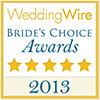 WeddingWire Brides's Choice Award '11, '12 and '13 Winner