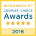 WeddingWire Brides's Choice Award Winner for 2011, 2012, 2013, 2014, 2015 and again for 2016
